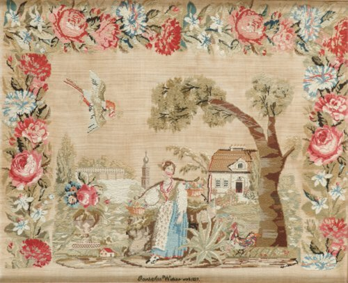 26: A NEEDLEWORK PICTURE  Pennsylvania, dated