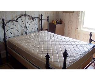VICTORIAN STYLE WROUGHT IRON BED 20th c.