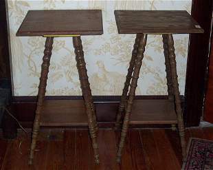 PAIR OF VICTORIAN OAK OCCASSIONAL TABLES