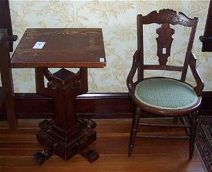 VICTORIAN WALNUT SIDE CHAIR Late 19th c