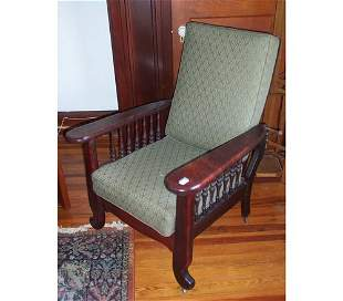 MORRIS STYLE RECLINING EASY CHAIR Early
