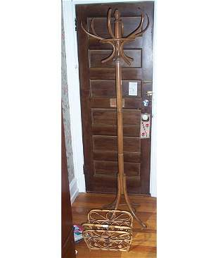 BENT WOOD HAT STAND 20th c of typical fo