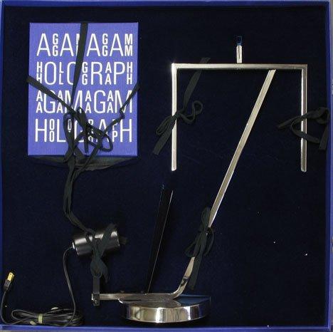 1: YAACOV AGAM, (ISRAELI B. 1928), HOLOGRAPH 1, HOMAGE