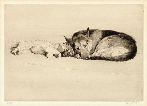 2: CECIL ALDIN, (BRITISH 1870-1935), INSEPARABLE