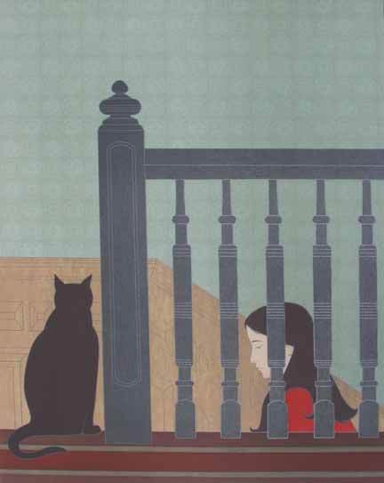 6: WILL BARNET, (AMERICAN B. 1911), THE BANNISTER
