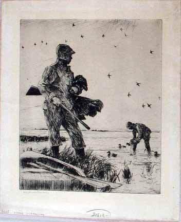 15: FRANK WESTON BENSON, (AMERICAN 1862-1951), WINTER W