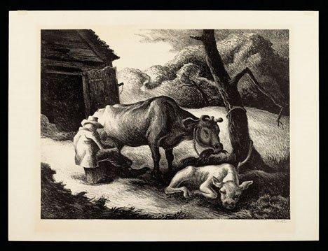 16: THOMAS HART BENTON, (AMERICAN 1889-1975), WHITE CAL