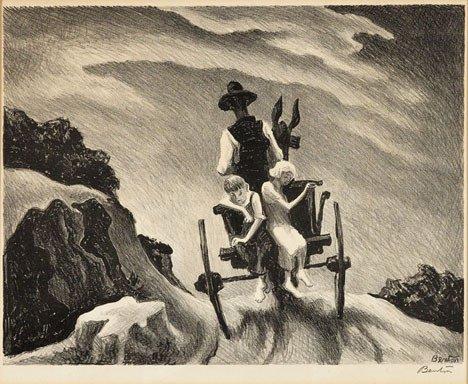 18: THOMAS HART BENTON, (AMERICAN 1889-1975), GOIN' HOM