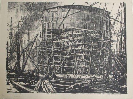22: SIR MUIRHEAD BONE, (SCOTTISH 1876-1953), GLASGOW SH