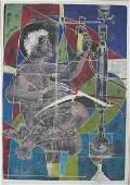 91: HANS ERNI, (SWISS B. 1909) TWO COLOR SCREENPRINTS,