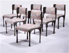 340: SIX PAUL EVANS SCULPTURED DINING CHAIRS