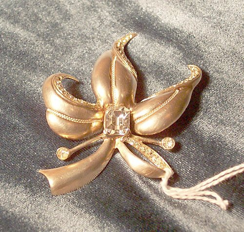 """4: STERLING SILVER """"ORCHID"""" BROOCH"""