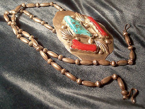 7: SOUTHWEST INDIAN SILVER, TURQUOISE & CORAL