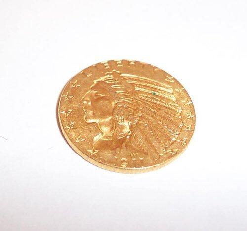 18: 1911 FIVE DOLLAR GOLD PIECE