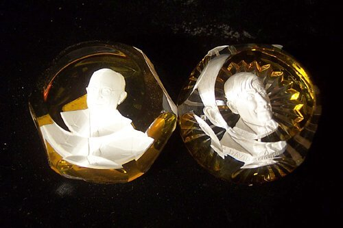 433: TWO BACCARAT SULPHIDE PAPERWEIGHTS