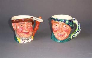 TWO STAFFORDSHIRE PORCELAIN CHARACTER JU