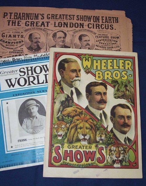 3: Lot.  Circus Programs, Periodical Literatu