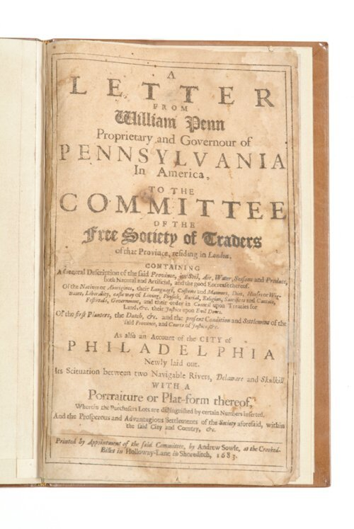 179: 1 vol.  Penn, William. A Letter from Wil