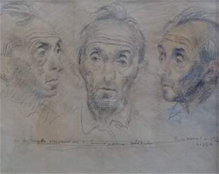 "RAPHAEL SOYER (American 1899-1987) ""IN"