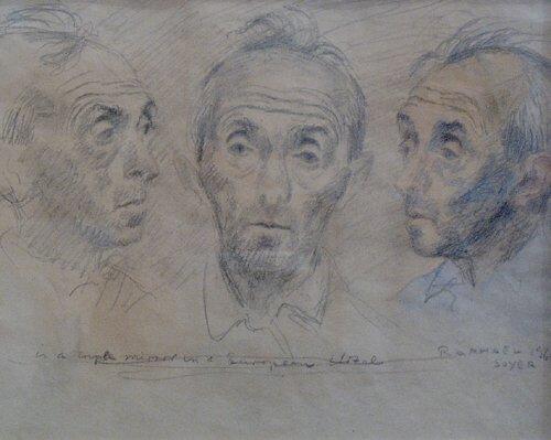 "1007: RAPHAEL SOYER (American 1899-1987) ""IN"