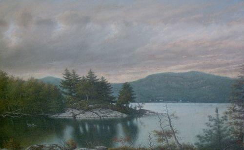 1019: LOUIS GRUBE (American 1812-1902) MOUNTA