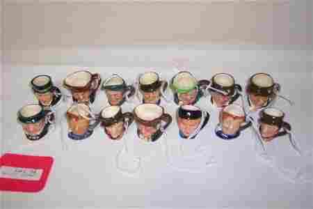 2001: 14 TINY ROYAL DOULTON CHARACTER MUGS