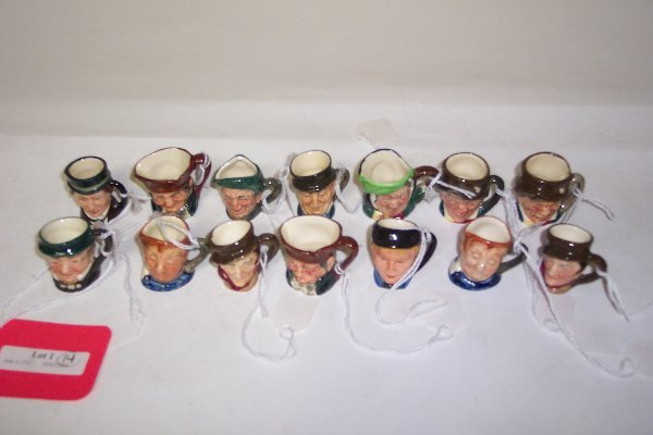 2001: 14 TINY ROYAL DOULTON CHARACTER MUGS