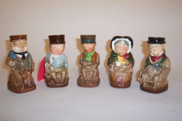 2003: FIVE MINIATURE ROYAL DOULTON TOBY MUGS