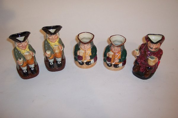 2009: FIVE ROYAL DOULTON TOBY MUGS