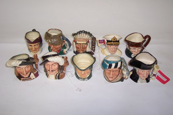 2010: TEN SMALL ROYAL DOULTON CHARACTER MUGS