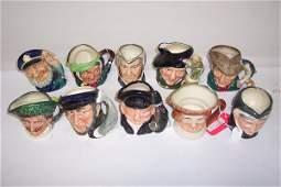 2011: TEN SMALL ROYAL DOULTON CHARACTER MUGS
