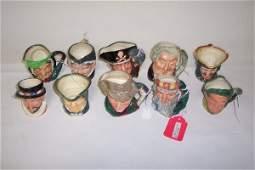 2012: TEN SMALL ROYAL DOULTON CHARACTER MUGS