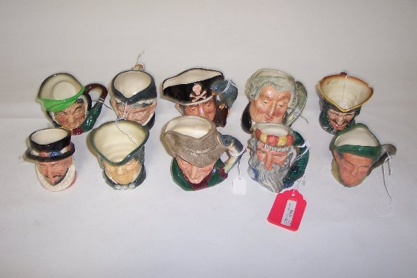 2012: TEN SMALL ROYAL DOULTON CHARACTER MUGS