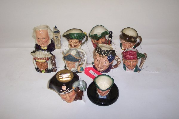 2013: TEN SMALL ROYAL DOULTON CHARACTER MUGS