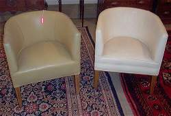 2276: PAIR UPHOLSTERED CLUB CHAIRS