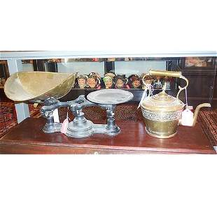 IRON & BRASS GROCERY SCALE