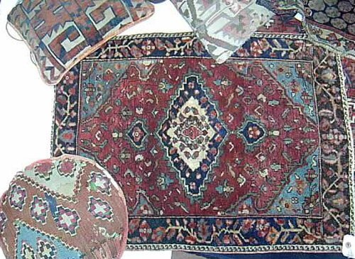 2: MIXED LOT OF RUGS & CUSHIONS