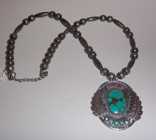 9: SOUTHWEST INDIAN SILVER, TURQUOISE & CORAL