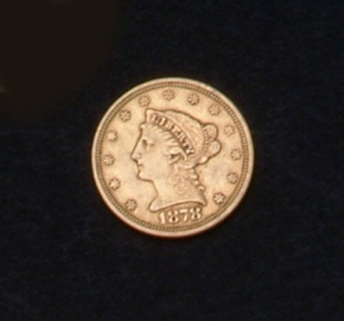 14: 1878 US TWO AND ONE HALF DOLLAR GOLD PIEC
