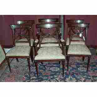 SET OF SIX REGENCY STYLE ROSEWOOD CHAIRS L