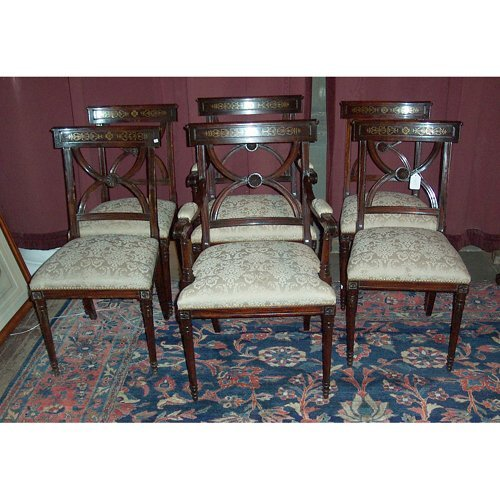 8: SET OF SIX REGENCY STYLE ROSEWOOD CHAIRS L