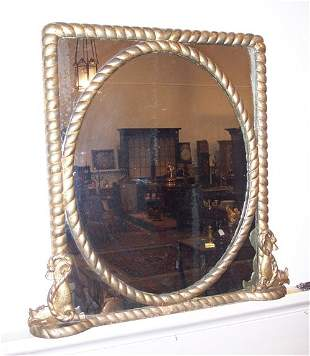 VICTORIAN GILTWOOD WALL MIRROR 19th c. The