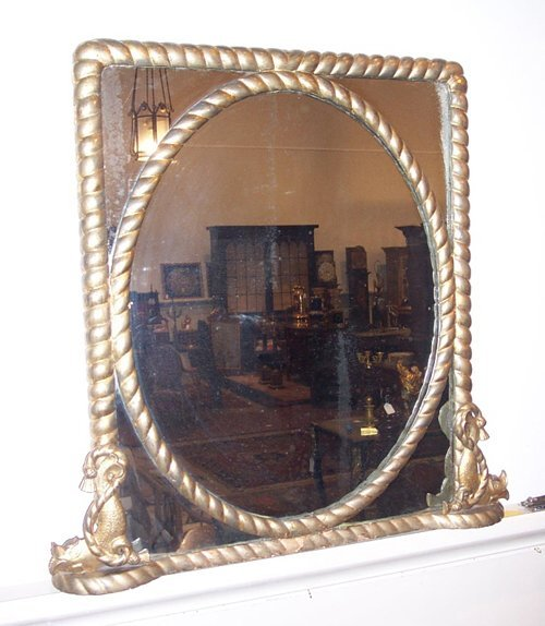 9: VICTORIAN GILTWOOD WALL MIRROR 19th c. The