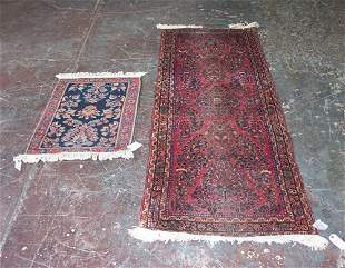 TWO SAROUK RUGS West Persia, ca. 1925 On