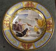 577: VIENNA PORCELAIN PLATE 19th c. Painted w