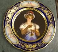579: VIENNA PORCELAIN PLATE 19th c. Signed Fr
