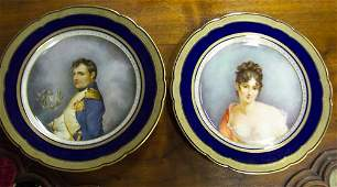 """586: PAIR OF """"VIENNA"""" PORCELAIN PLATES Late 1"""