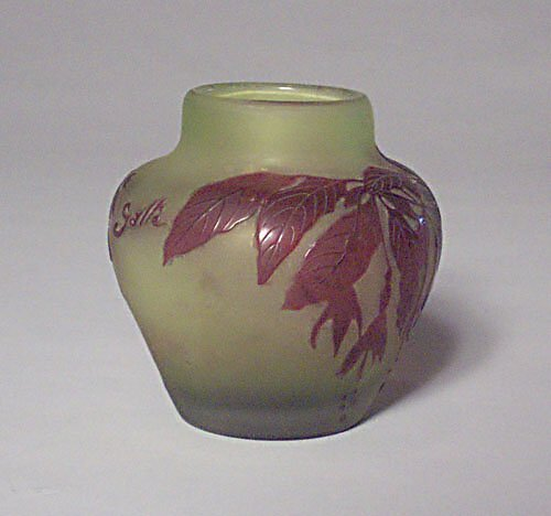 6: GALLE CAMEO GLASS VASE Overlaid & etched g