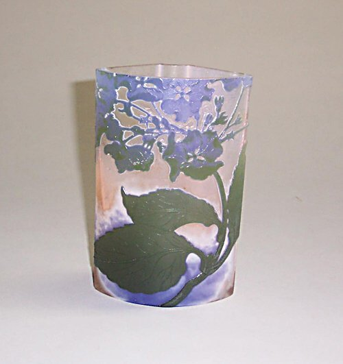10: GALLE CAMEO GLASS VASE Etched, carved & p