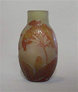 GALLE CAMEO GLASS VASE Etched & polished